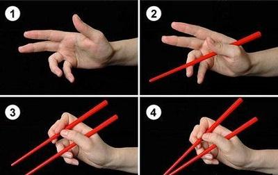 китайские палочки как держать фото
